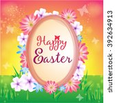 happy easter card design | Shutterstock .eps vector #392634913
