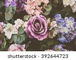 beautiful bouquet flower for... | Shutterstock . vector #392644723