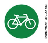 bicycle icon black line | Shutterstock .eps vector #392655583