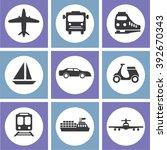 transport icons.transportation .... | Shutterstock .eps vector #392670343