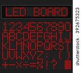 red led digital font display on ...   Shutterstock .eps vector #392675323
