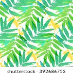 green tropical leaves... | Shutterstock .eps vector #392686753
