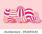 candy and sweet eggs with... | Shutterstock .eps vector #392693143