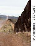 arizona mexico border wall and... | Shutterstock . vector #39271057