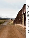 arizona mexico border wall and... | Shutterstock . vector #39271060