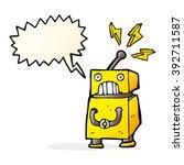 cartoon little robot with... | Shutterstock .eps vector #392711587