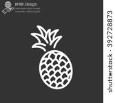 web line icon. pineapple | Shutterstock .eps vector #392728873