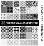 pack of 36 vector seamless... | Shutterstock .eps vector #392739367