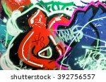 beautiful street art graffiti.... | Shutterstock . vector #392756557