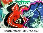 beautiful street art graffiti.... | Shutterstock . vector #392756557