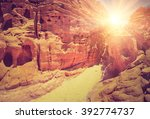 colored canyon of egypt.... | Shutterstock . vector #392774737