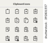 vector black clipboard icons... | Shutterstock .eps vector #392831557
