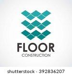 floor ribbon of construction...   Shutterstock .eps vector #392836207