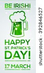 happy st. patrick's day... | Shutterstock .eps vector #392846527