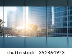 glass wall in the office... | Shutterstock . vector #392864923
