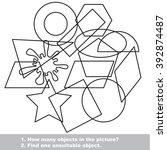 geometric shapes set mishmash...   Shutterstock .eps vector #392874487