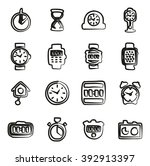 clock icons set 2 freehand  | Shutterstock .eps vector #392913397