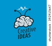 vector brain logo | Shutterstock .eps vector #392915647