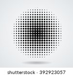 halftone dots in circle form. | Shutterstock .eps vector #392923057