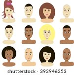 portraits of people with... | Shutterstock .eps vector #392946253