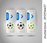 vector ball of soccer.... | Shutterstock .eps vector #392956657