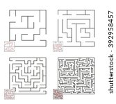 set of mazes | Shutterstock .eps vector #392958457