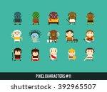 pixel art characters  orcs ...