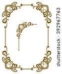 decorative frame  | Shutterstock .eps vector #392967763