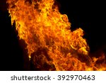 photo of red fire flame on... | Shutterstock . vector #392970463
