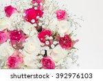 box of flowers. beautiful...   Shutterstock . vector #392976103