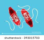flat sport sneakers background...