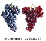 dark grapes and red grapes...   Shutterstock . vector #393036787