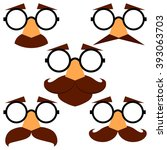 set of funny disguise masks...