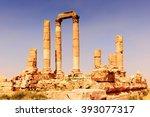 temple of hercules of the amman ... | Shutterstock . vector #393077317