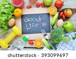 """the words """"good life"""" with...   Shutterstock . vector #393099697"""
