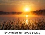 Sunrise On The Lake. Early...