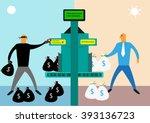money laundering or bank...   Shutterstock .eps vector #393136723