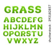 spring  summer alphabet made of ... | Shutterstock .eps vector #393182857