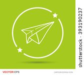 paper airplane doodle | Shutterstock .eps vector #393190237