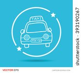 taxi doodle | Shutterstock .eps vector #393190267