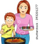 illustration of a mother and... | Shutterstock .eps vector #393201277
