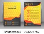 abstract vector modern flyers...   Shutterstock .eps vector #393204757