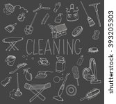 icons for cleaning services ... | Shutterstock .eps vector #393205303