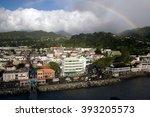 roseau  dominica   circa 2008 ... | Shutterstock . vector #393205573