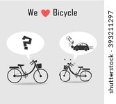 bicycle icons with grey... | Shutterstock .eps vector #393211297