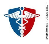 medical logo and shield | Shutterstock .eps vector #393211867