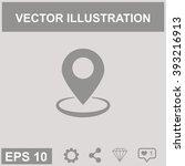 map pointer vector icon. gps...   Shutterstock .eps vector #393216913