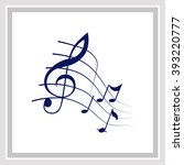 music notes icon. simple... | Shutterstock .eps vector #393220777