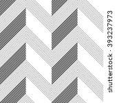 seamless zigzag pattern.... | Shutterstock .eps vector #393237973