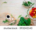 Tomato And Greens Salad...